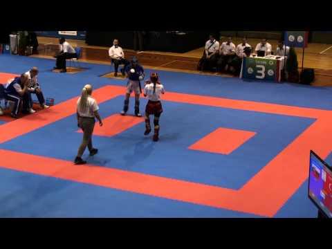 WAKO Kickboxing - EC 2014 - FINALS W KL -50kg - Turan(TUR) - Gabova(SVK)