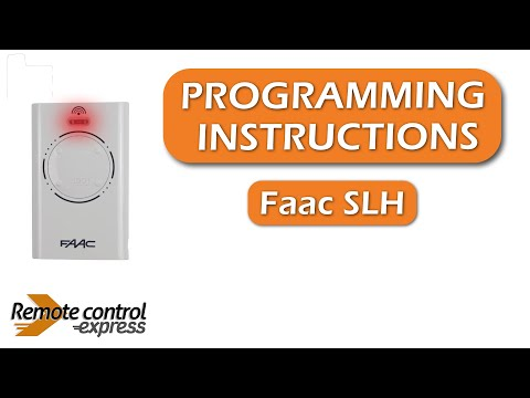 Programming My Remote Faac Slh Youtube