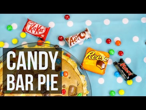 Candy Bar Pie | Leftover Halloween Chocolate Dessert Recipe By Forkly
