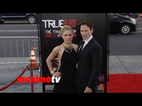 """True Blood"" Final Season PREMIERE Red Carpet Anna Paquin, Stephen Moyer, Sam Trammell"