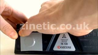How to refill and reset the Kyocera TK-130/132/134 toner cartridge
