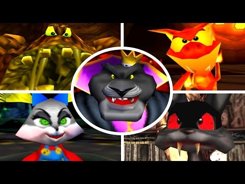 Conker's Bad Fur Day - All Bosses (No Damage)