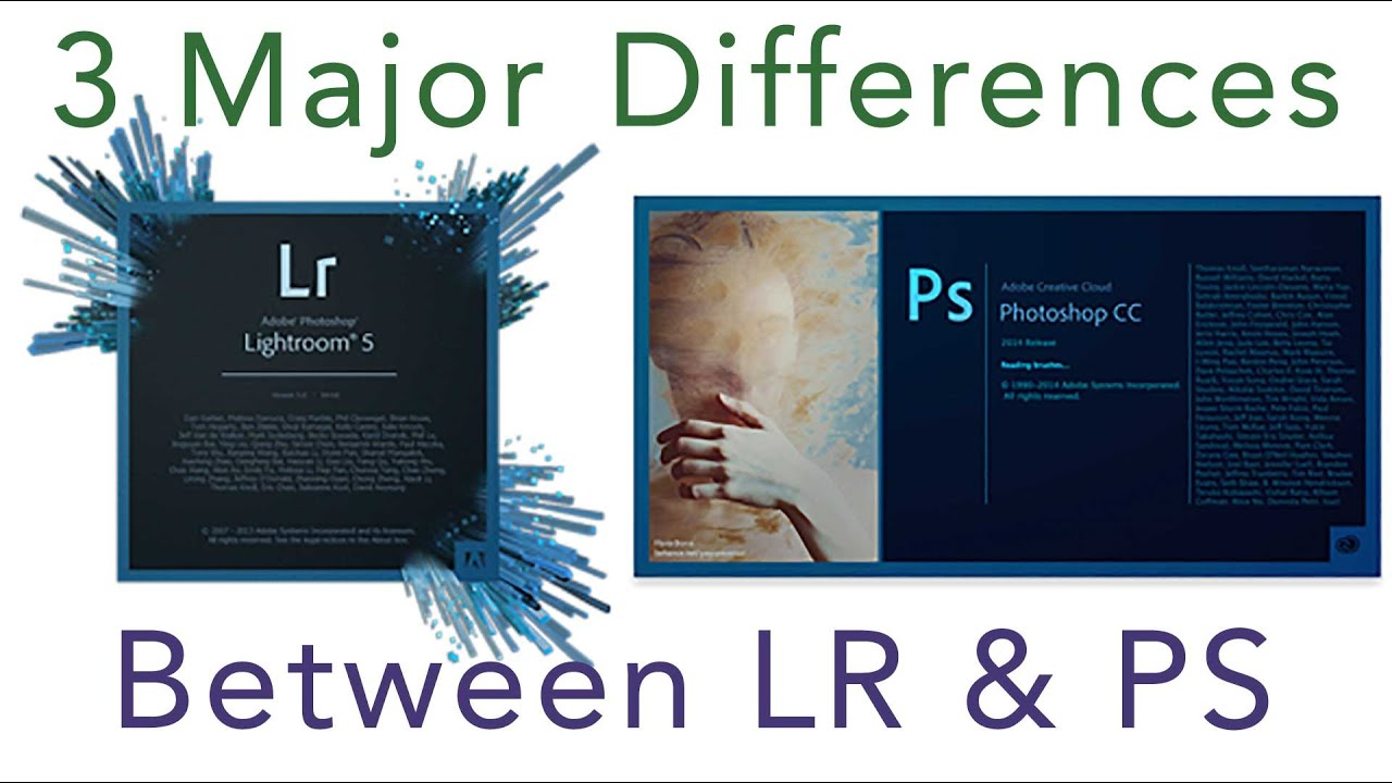 Lightroom and between difference photoshop