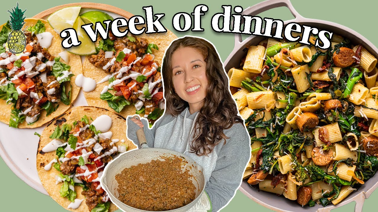 A WEEK OF *REALISTIC* VEGAN DINNERS | 8 Yummy Recipe Ideas ☀️