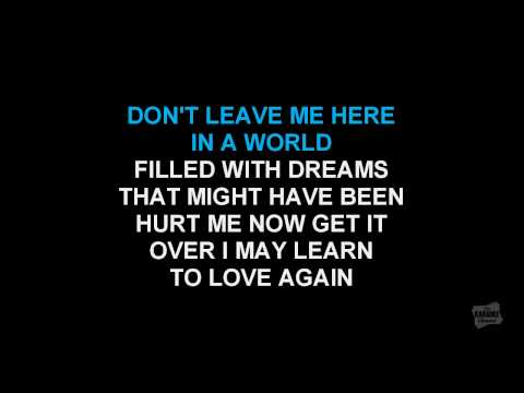 Leavin' On Your Mind In The Style Of Patsy Cline Karaoke Video Singalong Lyrics