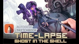 Ghost In The Shell Redesign - Sketchbook Pro Elypse tips