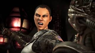 Mortal Kombat X ALL Fatalities On Alien Fatality Gameplay thumbnail