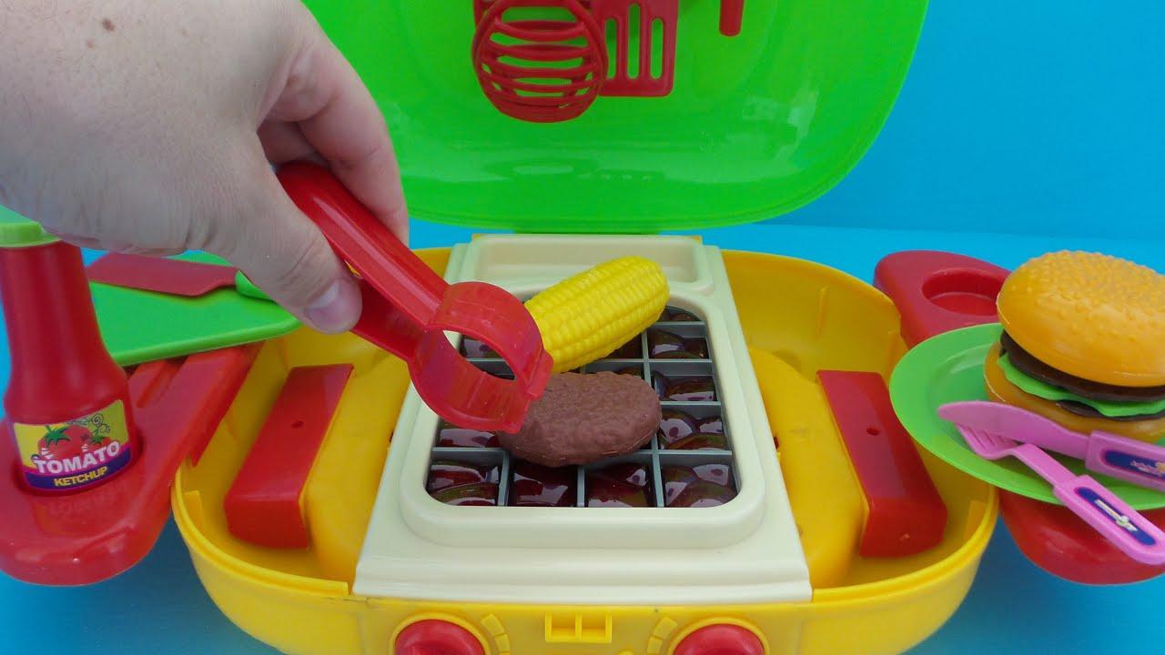 Spielzeug Grill Küche auspacken und spielen - YouTube