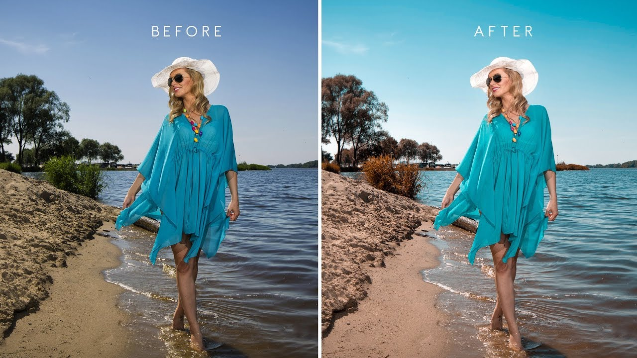 Ly Aqua Brown Color Scheme To Photos In Photo Edit Summer Beach Photography W Free Preset