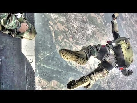 Navy SEALs & Marine Corps Special Operations Free Fall Jump