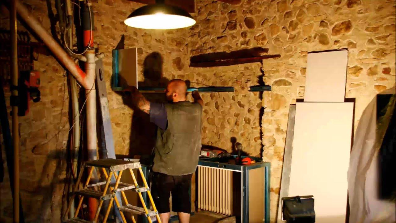 Come Fare Scaffali In Cartongesso scrivania e mensole in cartongesso - youtube