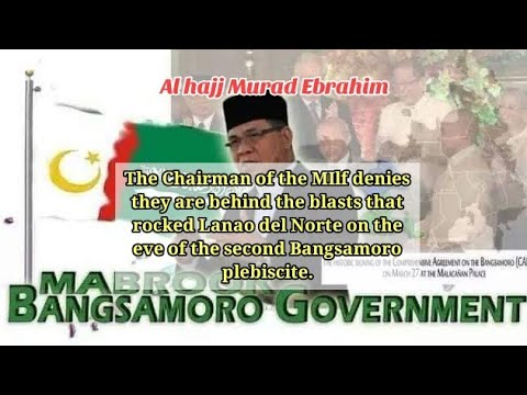 The Chairman of the Moro Islamic Liberation Front Al hajj Murad Ebrahim.