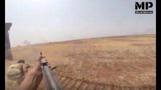 Syria War 2017 POV -  Rebels  launching an assault through an open field