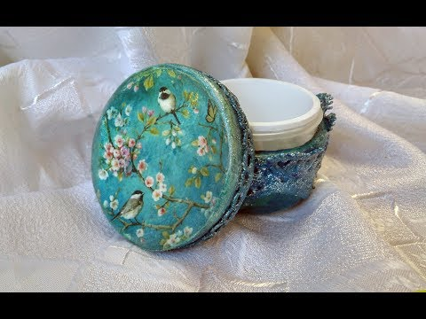 Шкатулка из баночки от крема
