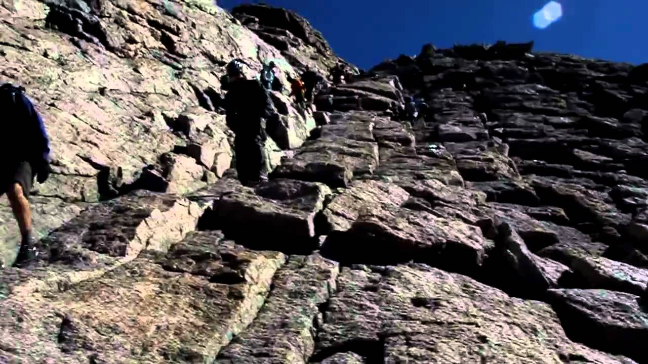 Descending The Homestretch On Longs Peak