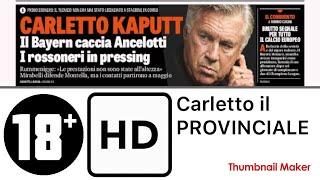 """La Gazzetta dello Sport - CARLETTO ANCELOTTI.. """"Riposerò 10 mesi.. il Bayern..? MEGLIO TACERE"""""""