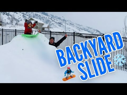 GREATEST BACKYARD SLEDDING HILL! 🛷🏂