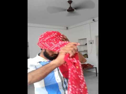 how to wear jodhpuri pagri