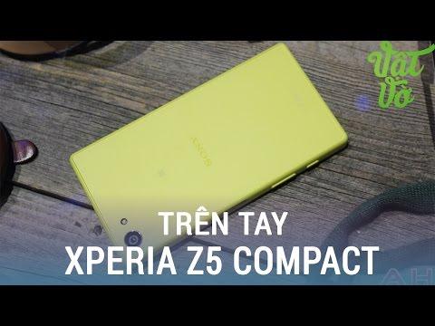 Vật Vờ  Mở hộp Sony Xperia Z5 compact chính hãng màu vàng tặng kèm tai SBH70