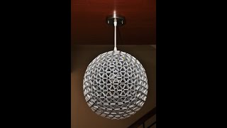 How To Make Your Own Spherical TetraLamp Shade ( Part 1 of 2 )