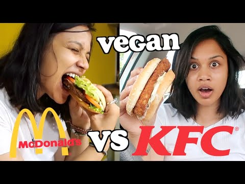 VEGAN MEAT BURGER TASTE TEST - MCDONALDS VS KFC | Clickfortaz