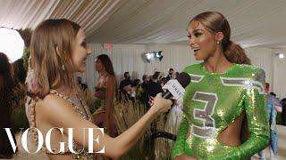 Ciara's Enchanting NFL Met Gala Homage | Met Gala 2021 With Emma Chamberlain | Vogue
