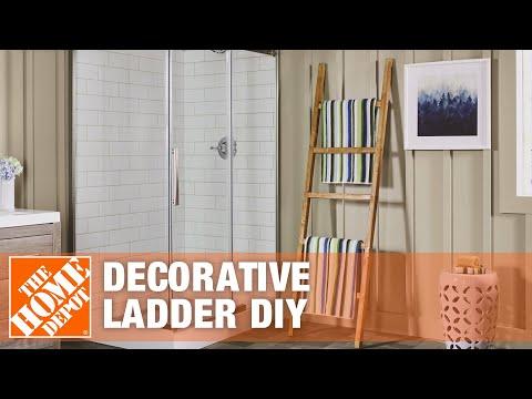 DIY Blanket Ladder | Rustic Decorative Ladder | The Home Depot