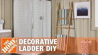 DIY Blanket Ladder   Rustic Decorative Ladder