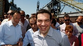 Alexis Tsipras - the leader of the radical left party Syriza interview