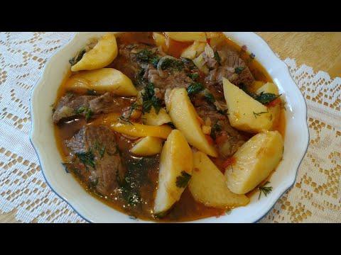 Соус с мясом и картошкой. Рецепт. Soße Mit Fleisch Und Kartoffeln. Sauce With Meat \u0026 Potatoes