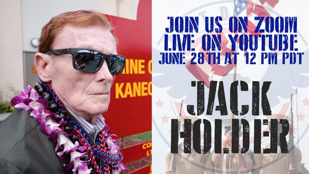 Join us live on Zoom with Pearl Harbor/Pacific Veteran Jack Holder