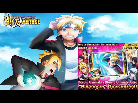 NxB NV | Boruto Uzumaki Happy Birthday Summon & Team Battle Attacks 🔥🔥🔥
