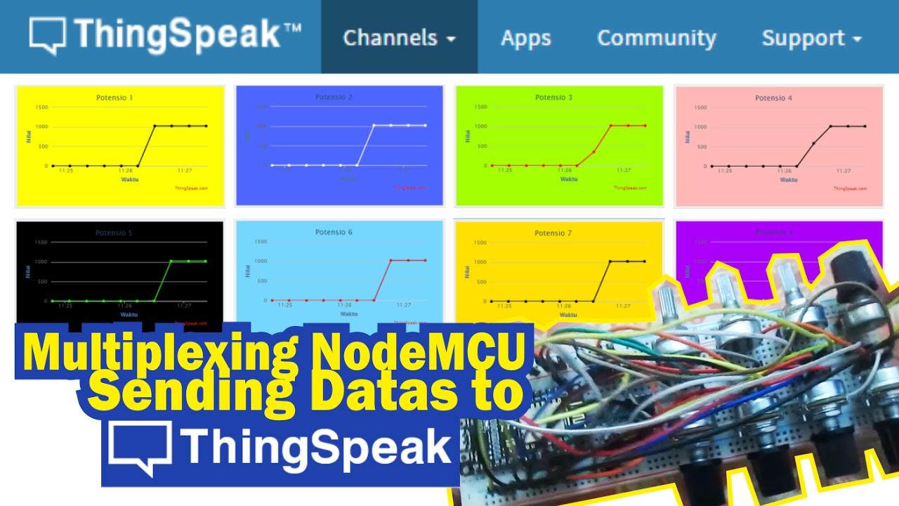 Multiplexing NodeMCU & Sending 8 Analog Values to ThingSpeak  #simpLINnovation