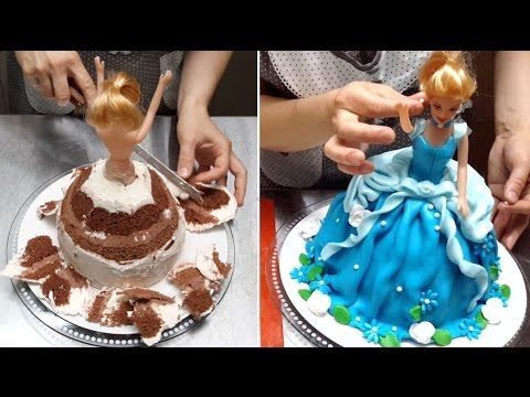 Barbie Doll Cake How To Make by Cakes StepbyStep YouTube