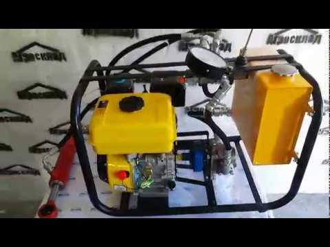 Гидро/маслостанция с цилиндром