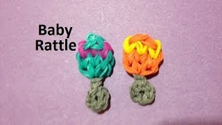 How to Make a Baby Rattle Charm on the Rainbow Loom - Original Design