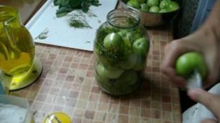 Огурцы,зеленые помидоры как бочковые на зиму