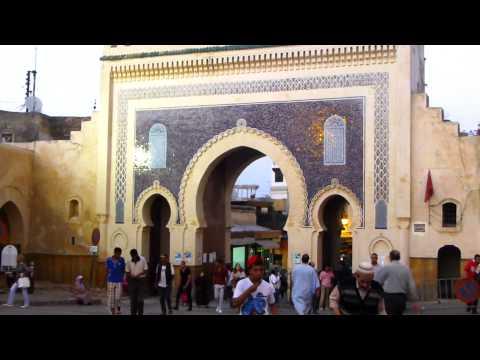 Fez, Maroko - Kota sangat ramai