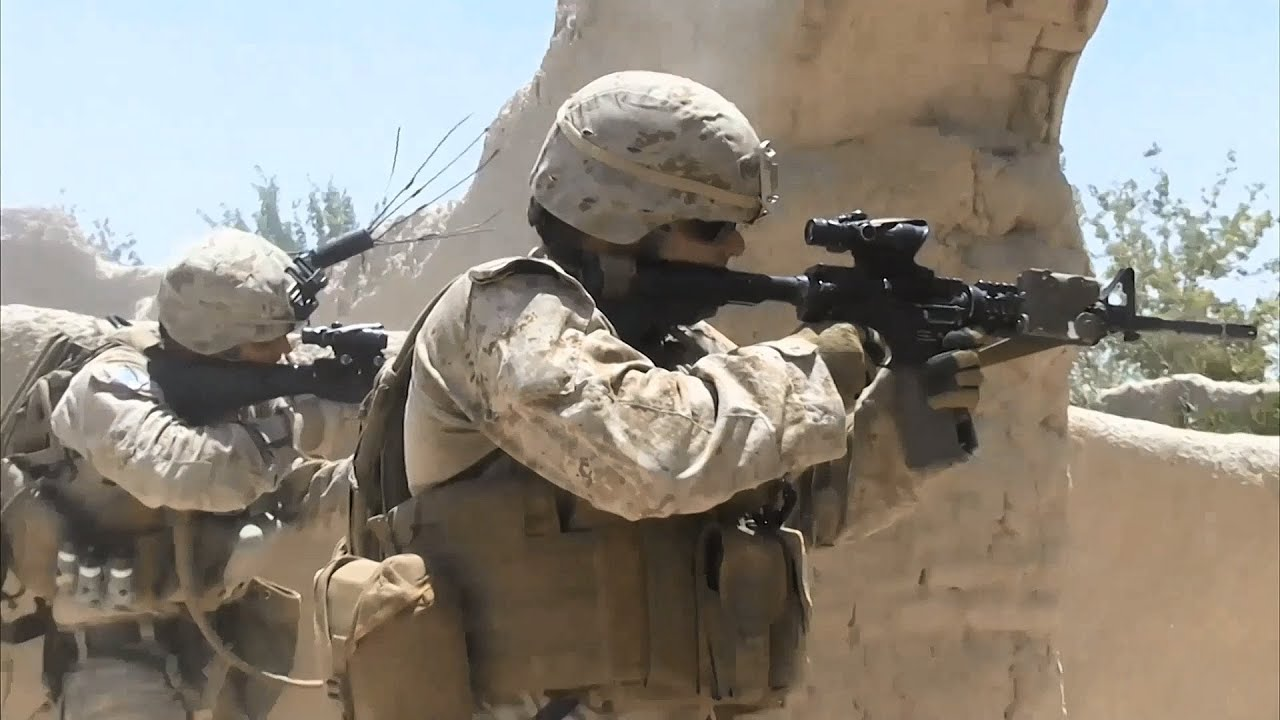 U.S. Marines Combat Team • Operation Trap House • Helmand province Afghanistan