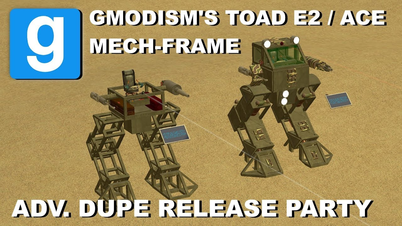 Garry's Mod - Customizable Mech Frame System TOAD - Dupe Release Party 12  (E2, ACF/ACE)