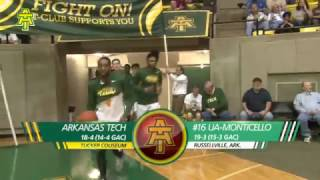 Tech Men's Basketball vs. Arkansas-Monticello Highlights - 2/16/17