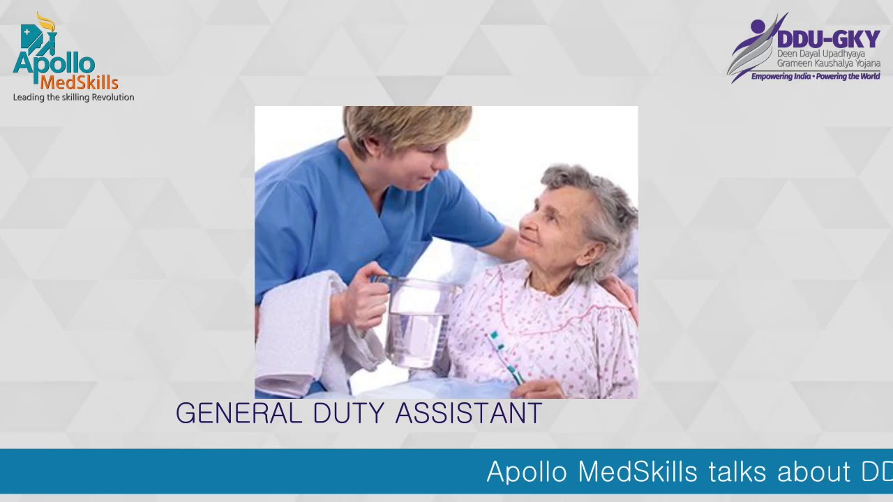 #DDUGKY - Training & Placement Program | General Duty Assistant Course |  Apollo MedSkills