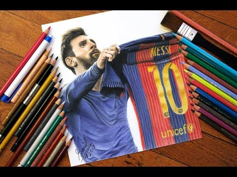 how to draw messi for kids