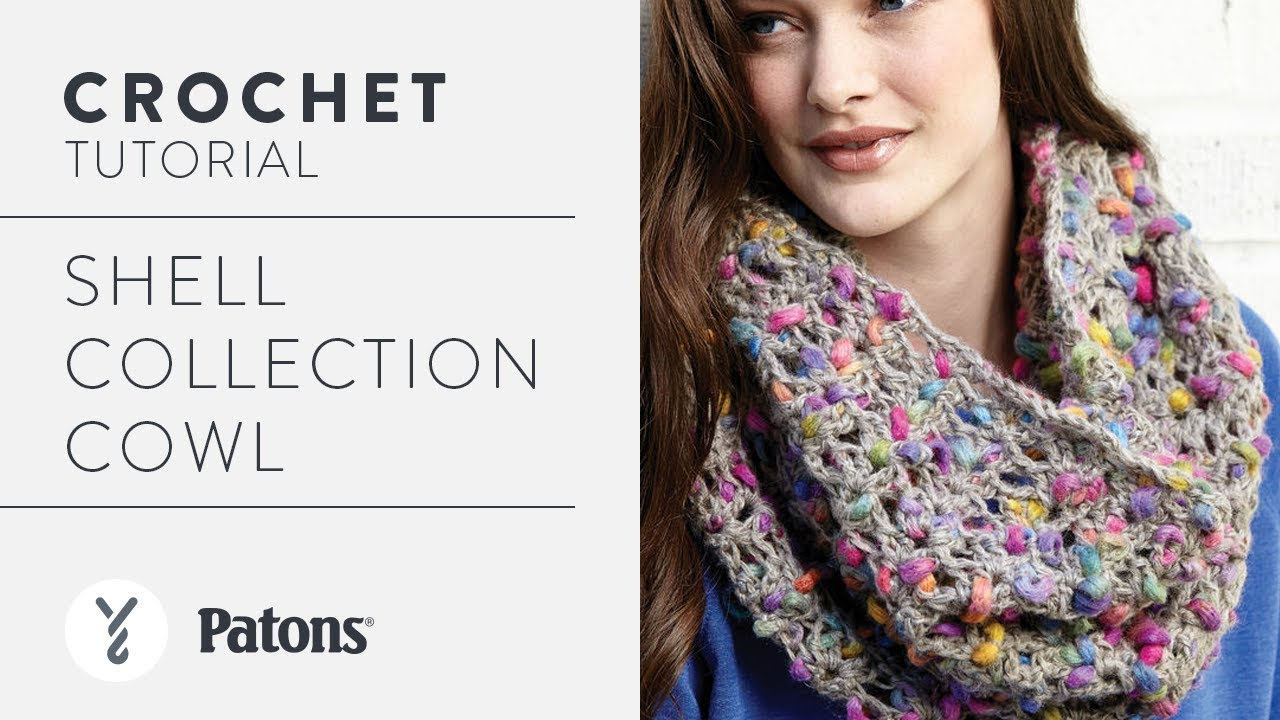 How To Crochet a Cowl: Shells Cowl - YouTube