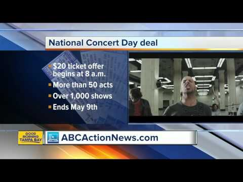 National Concert Day deal with Live Nation
