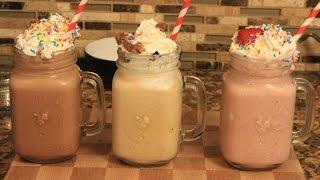 How To Make 3 Easy Delicious Ice Cream Milkshakes