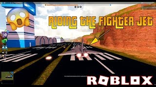 RIDING THE FIGHTER JET LEAKED | Roblox Jailbreak