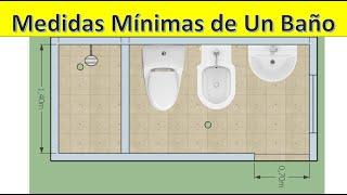 Diseño De Baños Medidas Mínimas En Baños Youtube