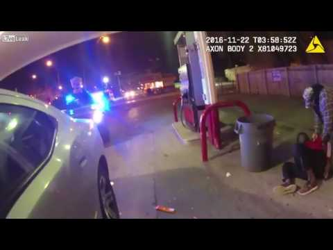 Chicago Police Handcuff, Slam Black Man Down For License Plate Light