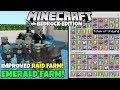 Minecraft Bedrock: Fully AFK RAID FARM! (Improved) 1,500 Emeralds/Hr! Pillager Outpost Farm